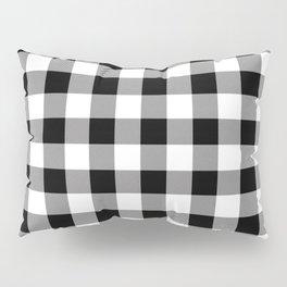 Buffalo Plaid White Black Lumberjack Pattern Farmhouse Pillow Sham