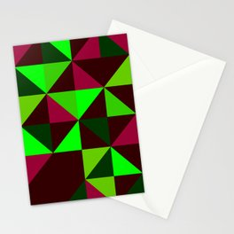 colourful triangles Stationery Cards