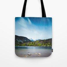 Lake Bohinj with Alps in Slovenia Tote Bag