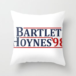 Bartlet and Hoynes 1998 Throw Pillow