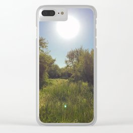 Sunshine on the path Clear iPhone Case