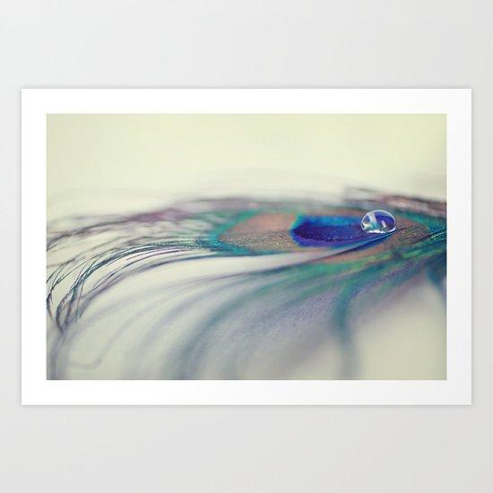Peacock Drop Art Print