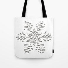 Snowflake | Black and White Tote Bag
