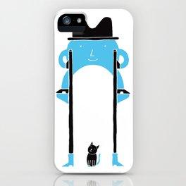 Mr Blue Boy iPhone Case