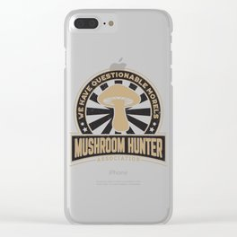 Mushroom Hunter Questionable Morels Gift Clear iPhone Case