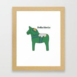 Dolla-Horse Framed Art Print