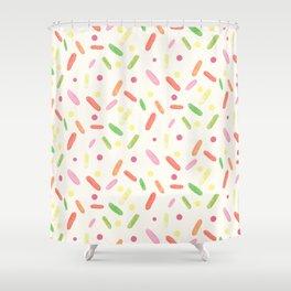 sweet things: liquorice comfit Shower Curtain