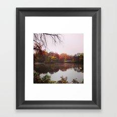 Autumn Fog - Central Park, New York Framed Art Print