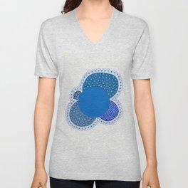 Condensed Blue Unisex V-Neck