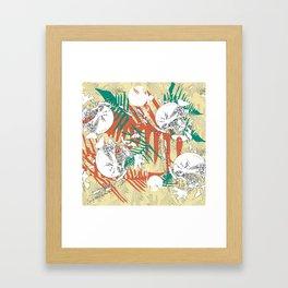 Abstract fern decorative print Framed Art Print