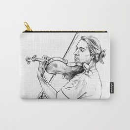 Violinist plays music Carry-All Pouch
