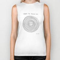 positive Biker Tanks featuring What to focus on by Marc Johns