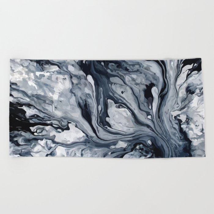 Abstract Oil Beach Towel