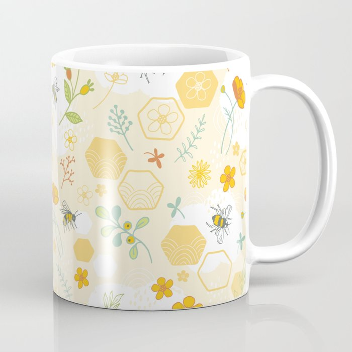 Honey Bees and Buttercups Coffee Mug