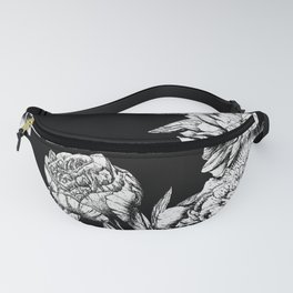 FLOWERS IN BLACK AND WHITE Fanny Pack