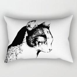 Ink Sketch - Cat Rectangular Pillow