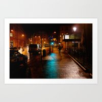 Night-time in Krakow 3 Art Print