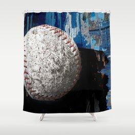 Baseball art variant 1 Shower Curtain
