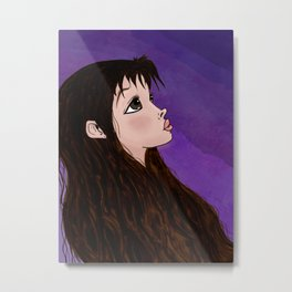 Look On Up (with Background) Metal Print