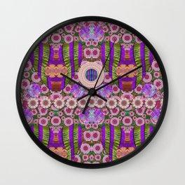 Love just love popart Wall Clock
