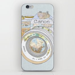 TRAVEL CAN0N iPhone Skin