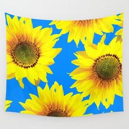 Sunny Sunflowers with blue sky - summer mood - #Society6 #buyart Wall Tapestry