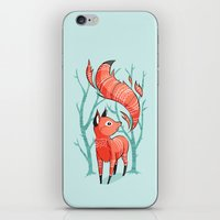 nursery iPhone & iPod Skins featuring Winter Fox by Freeminds