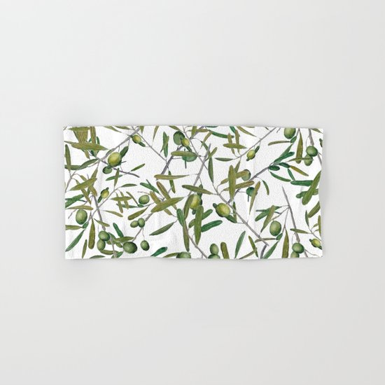 olive pattern  Hand & Bath Towel
