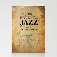 louis armstrong Stationery Cards featuring Louis Armstrong Quote by Larsson Stevensem