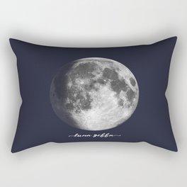 Waxing Gibbous Moon on Navy Latin Rectangular Pillow