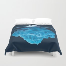 In the deep (iceberg) Duvet Cover