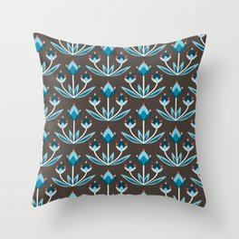 Daily pattern: Retro Flower No.10 Throw Pillow