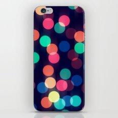 Round bokeh iPhone & iPod Skin
