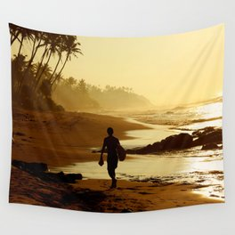 Sunset Beach. Wall Tapestry