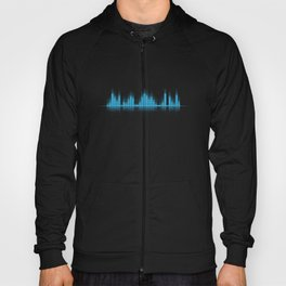 Cool Blue Graphic Equalizer Music on black Hoody