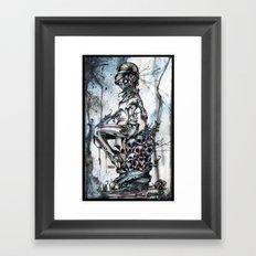 Zombie Flo Framed Art Print