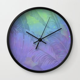 Rainbow in Palms Wall Clock