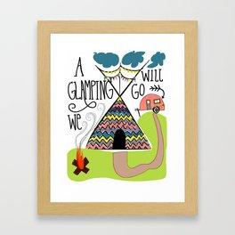 A glamping we will go Framed Art Print