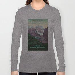 Yoho National Park Poster Long Sleeve T-shirt