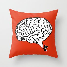 Brain Labyrinth Throw Pillow