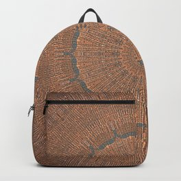 Tree Growth Ring Mandala Backpack