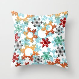 New year decor , new year, Christmas , snow , winter Throw Pillow