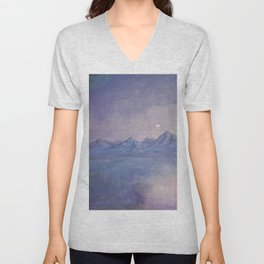 Purple Haze and Floating Mountains in the Sky Unisex V-Neck