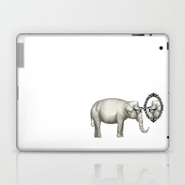 Elefante con gafas, se mira en el espejo Laptop & iPad Skin