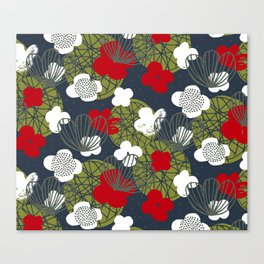 Kokedama Garden M+M Navy Black by Friztin Canvas Print