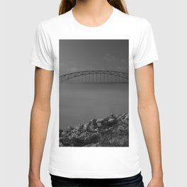 Julian Dubuque Bridge and the Mississippi River T-shirt