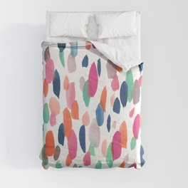 Watercolor Dashes Comforters