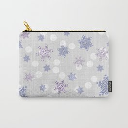 Snowfall. Picture with snowflake in pastel color. Carry-All Pouch