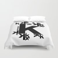 kafka Duvet Covers featuring KAFKAESQUE by THE USUAL DESIGNERS