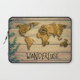 Wanderlust Vintage Map Laptop Sleeve